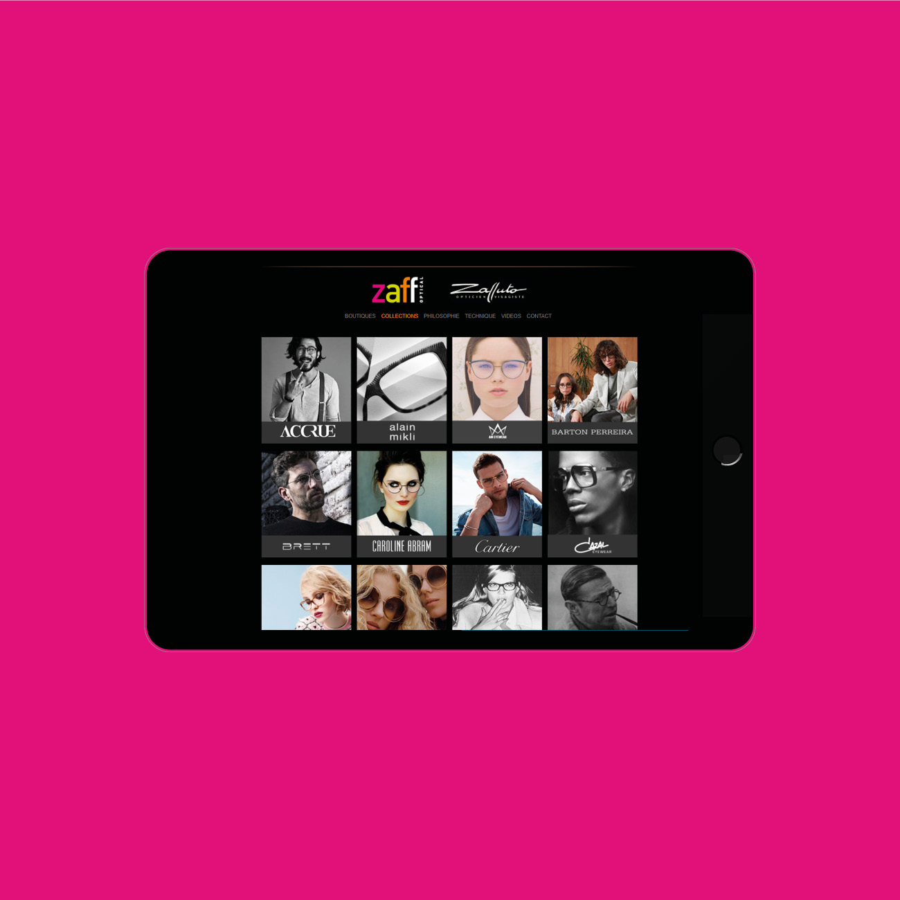 Miko Digital Agence web à Liège - Site internet pour Zaff Optical