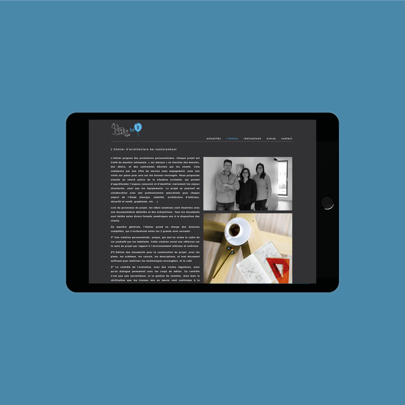 Miko Digital Agence web à Liège - Site web de l'architecte Vanturenhout