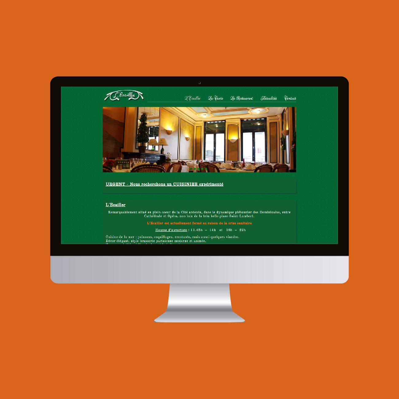 Miko Digital Agence web à Liège - Site internet pour L'Ecailler Liège