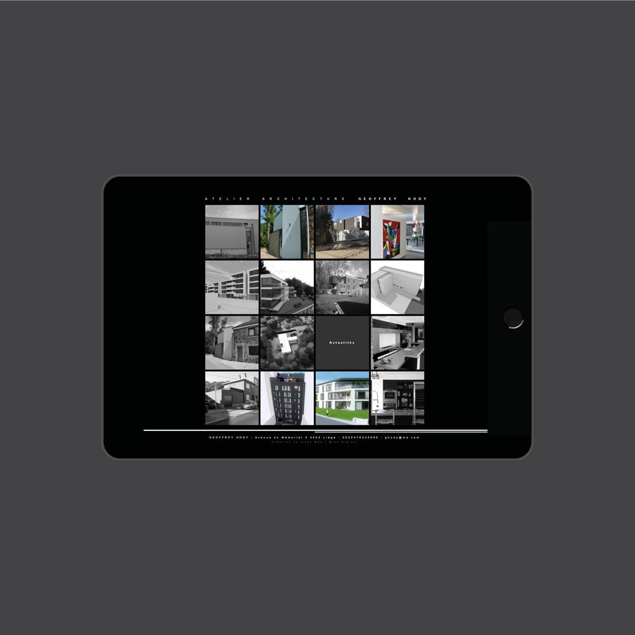 Miko Digital Agence web à Liège -Site internet pour Geoffrey Hody