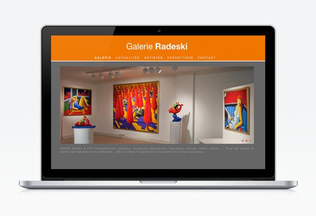 creation site web liege galerie radeski