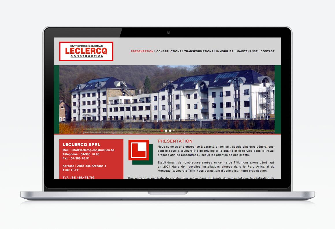 creation site web liege leclercq construction