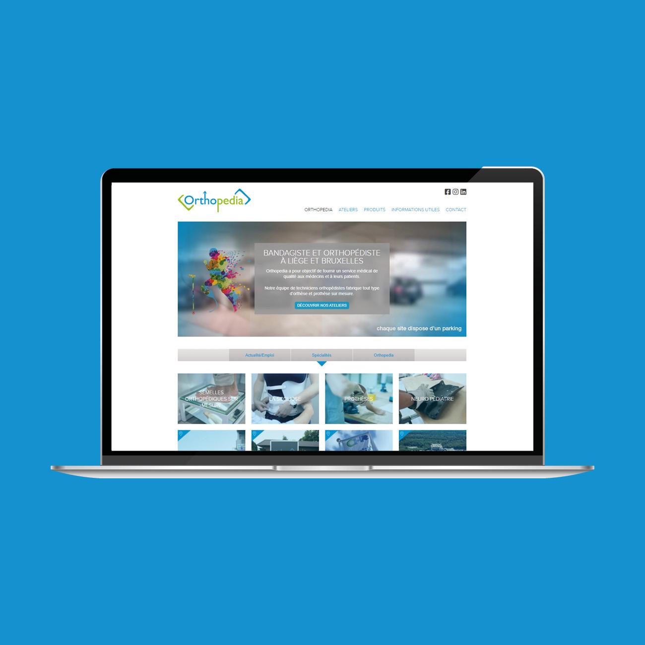 Miko Digital Agence web à Liège - Site Internet pour Orthopedia
