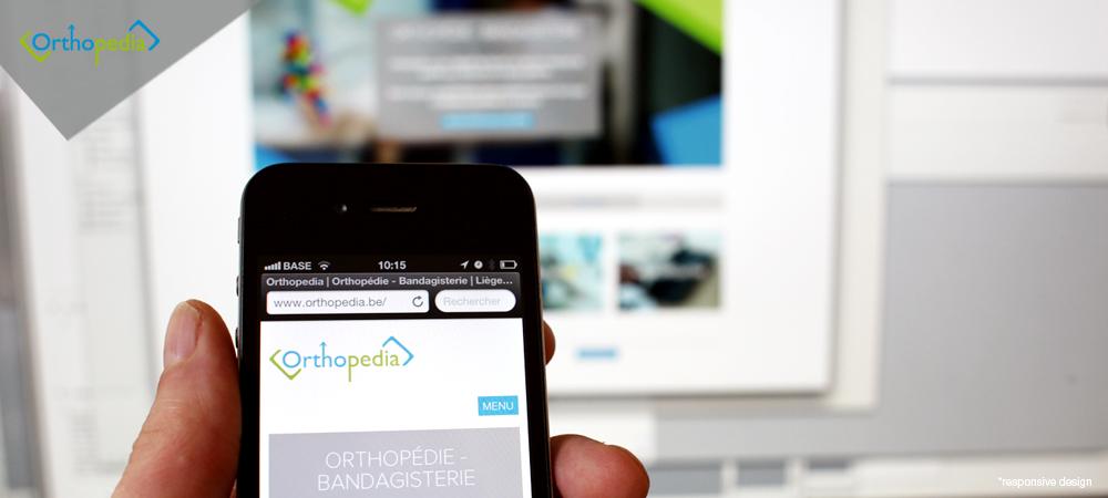 création de site web liège mobile Orthopedia