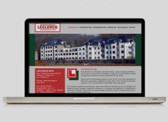 création site web Liège aperçu Leclercq