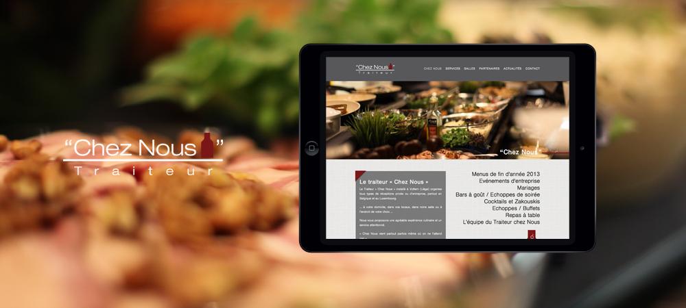 creation site web liege mobile chez nous traiteur
