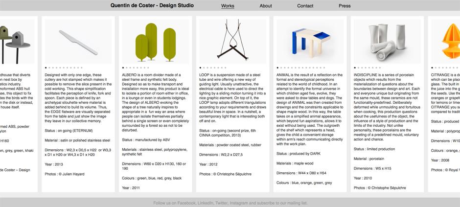 Création Site Internet Liège Quentin-deCoster
