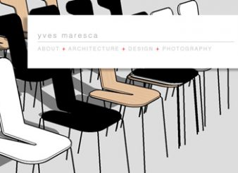Liège création site internet Yves Maresca navigation