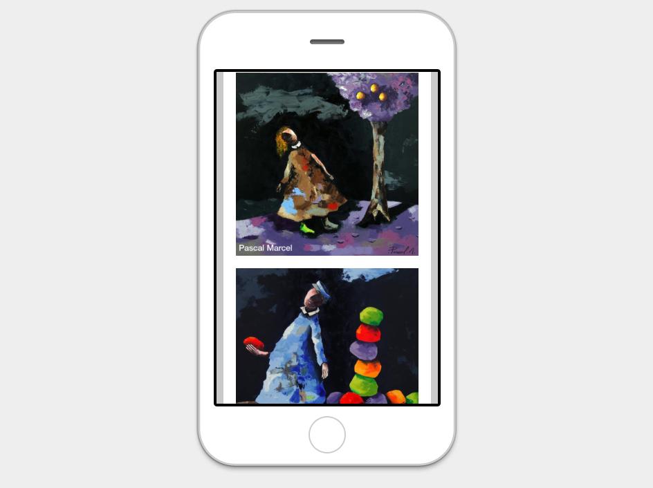 Création site internet Galerie713 Newsletter