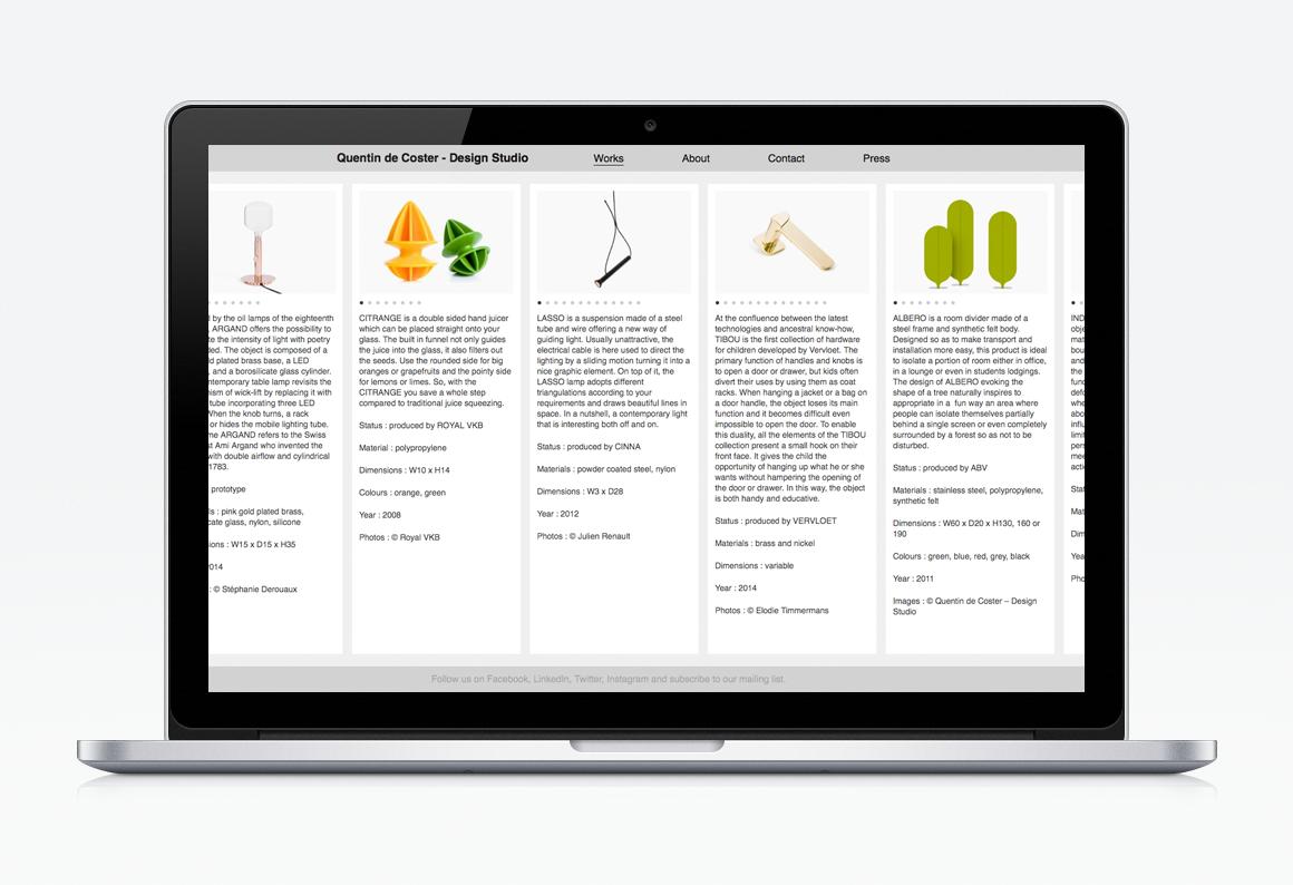 creation site web liege quentin de coster design