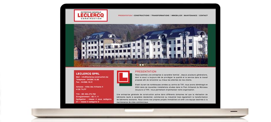 Site internet de Leclercq Tilff Liege