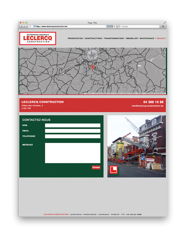 Leclerq creation de site web Liège