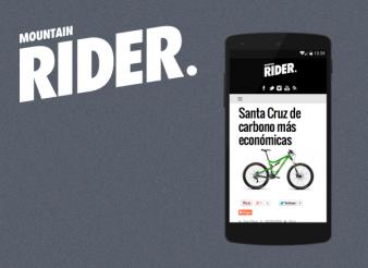 Création site web liege mobile Mountain Rider