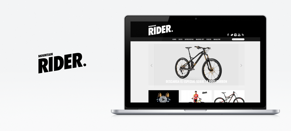 Création site web liege banner Mountain Rider