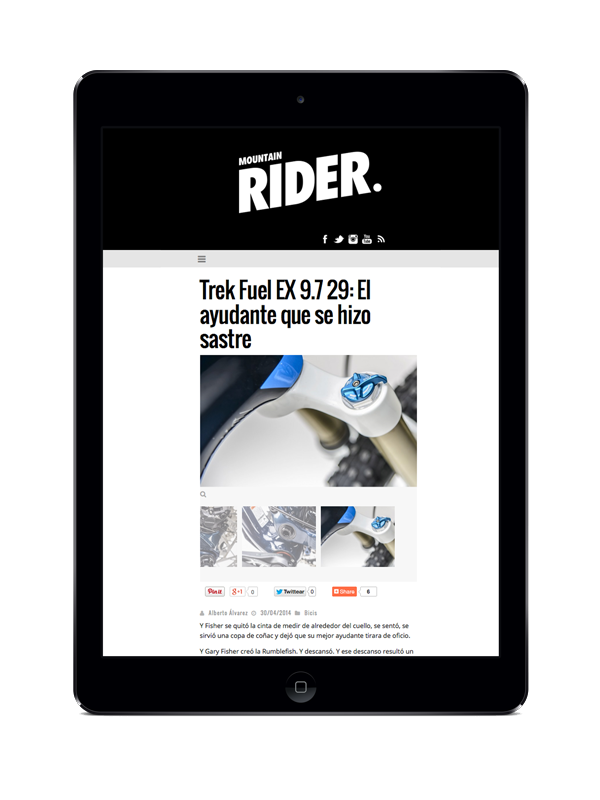 creation site web mobile mountain rider