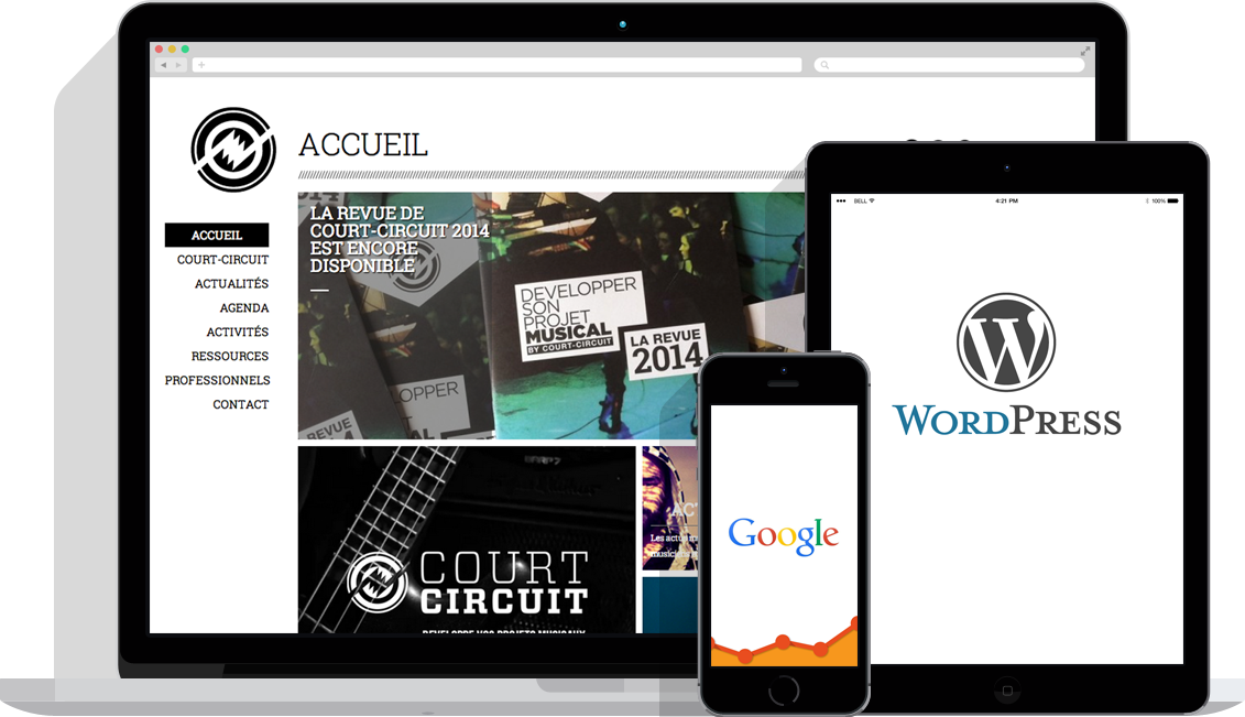 creation site web liege google wordpress