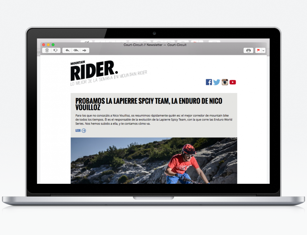Modèle de Newsletter pour Mountain Rider