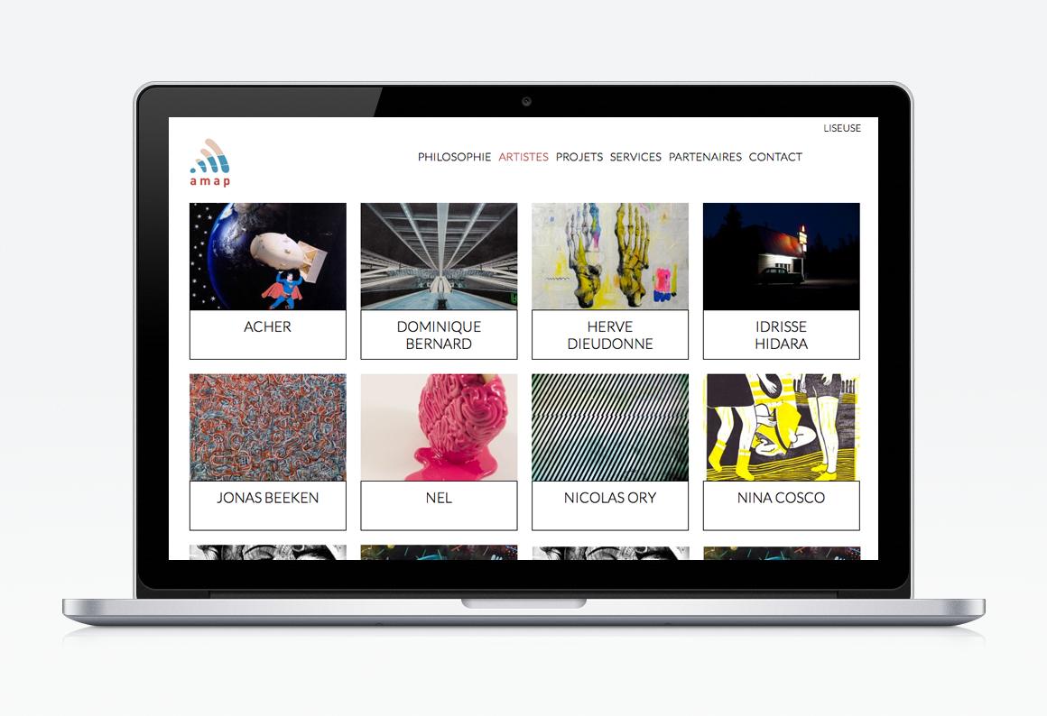 création site web vitrine amap