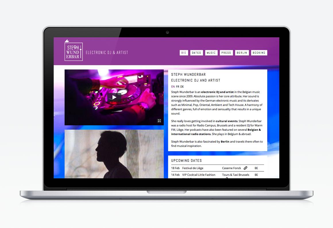 Site web CMS Wordpress Liège DJ Steph Wunderbar accueil