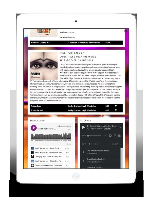 site web wordpress ipad responsive deisgn Liège