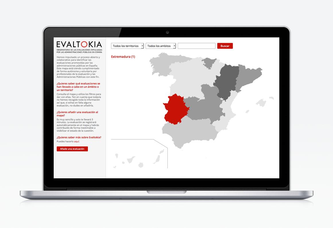 Création site web Carte interactive Evaltokia