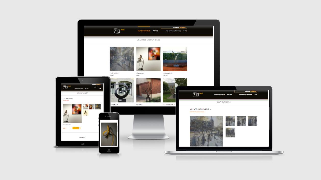 création de site web Liège Vente privée Galerie 713