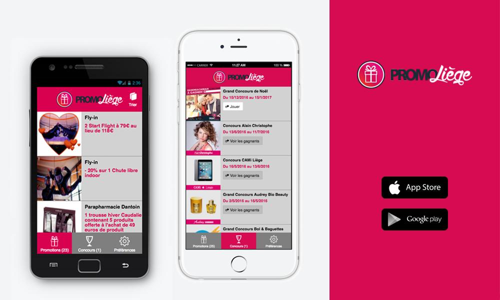 création d'application mobile Liège PromoLiège