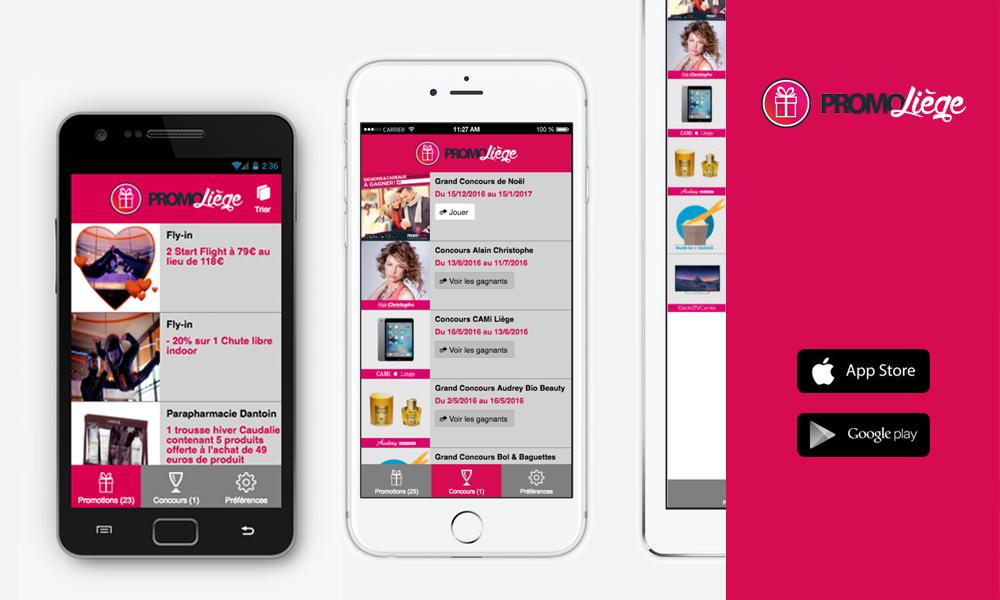 Création App Mobile Promo Liège