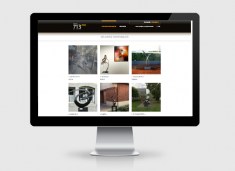 Création site web Liège Vente privée Galerie 713
