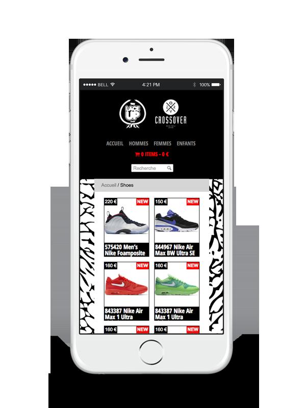 Création de site web Liège e-commerce Lace Up responsive