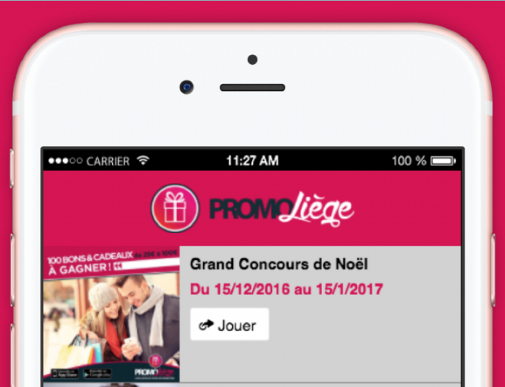 Application mobile PromoLiège