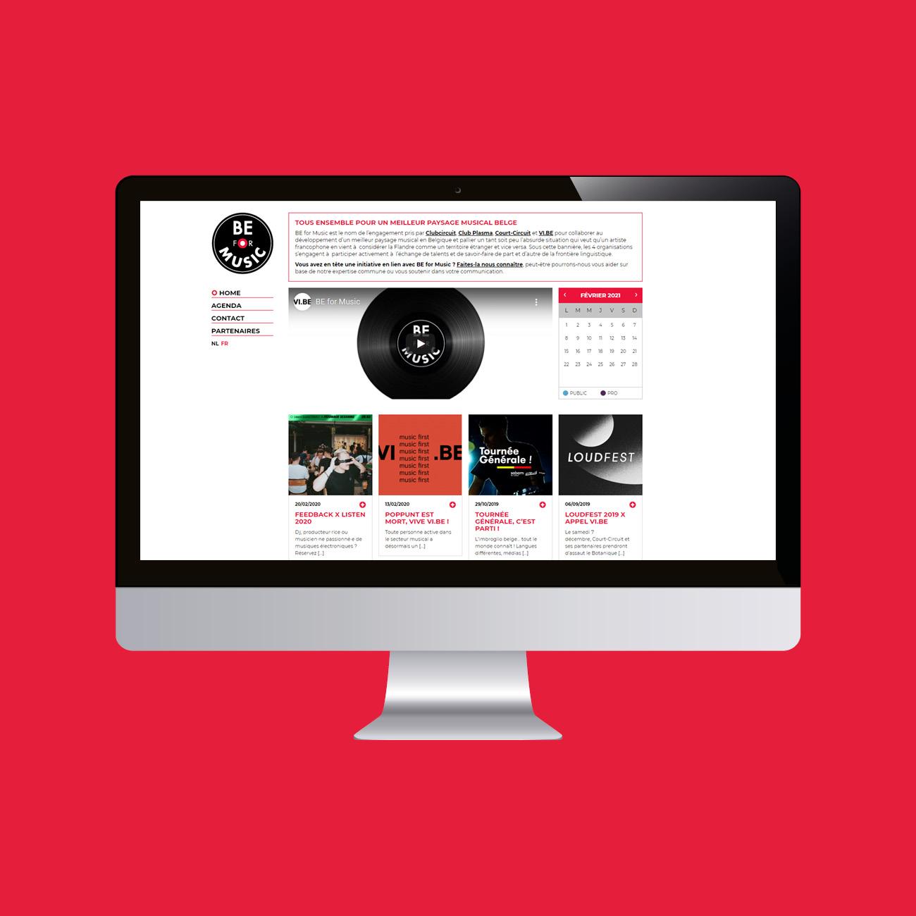 Miko Digital Agence web à Liège - Création site web BE for Music