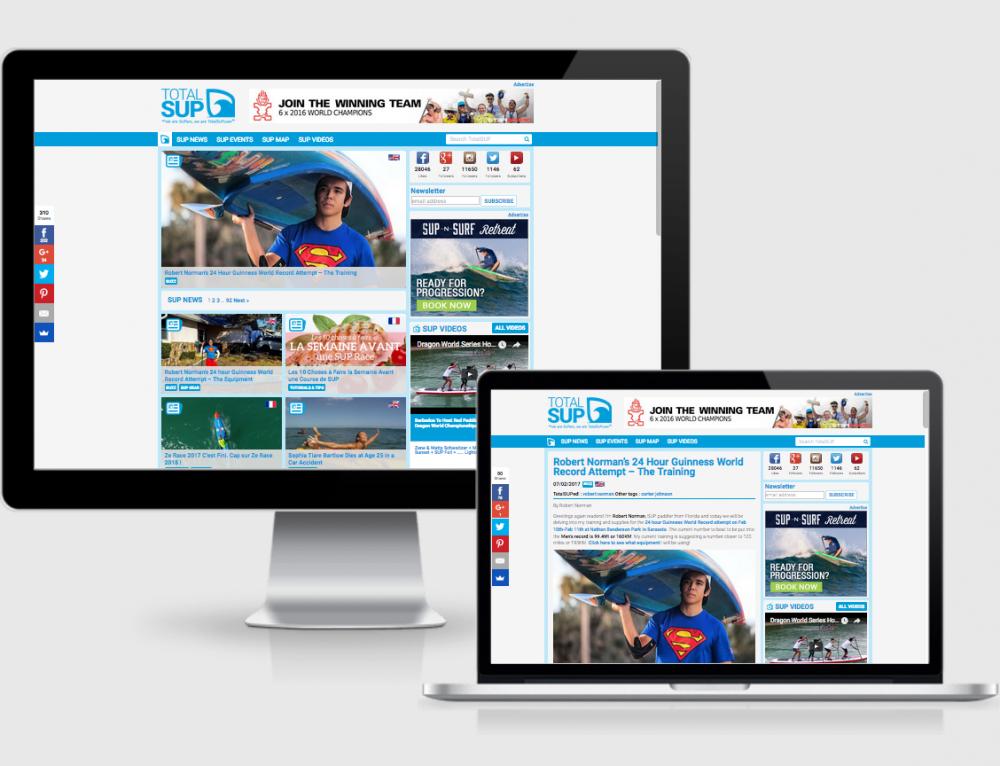 Création plateforme web TotalSUP