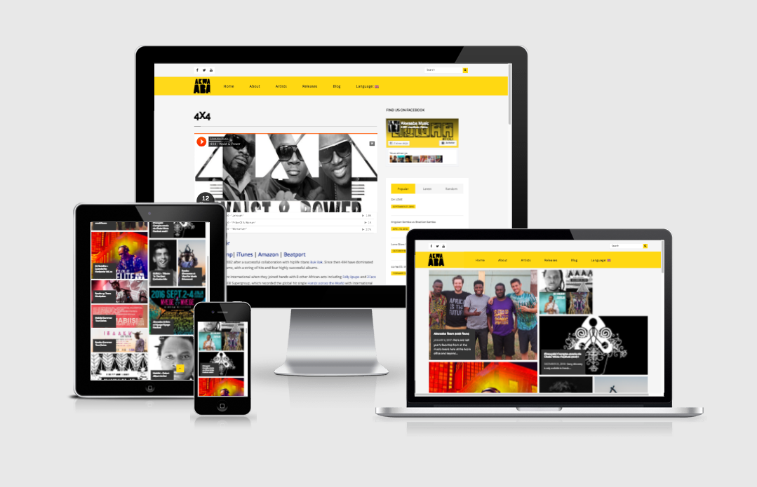 Création site web Liège Akwaaba Music