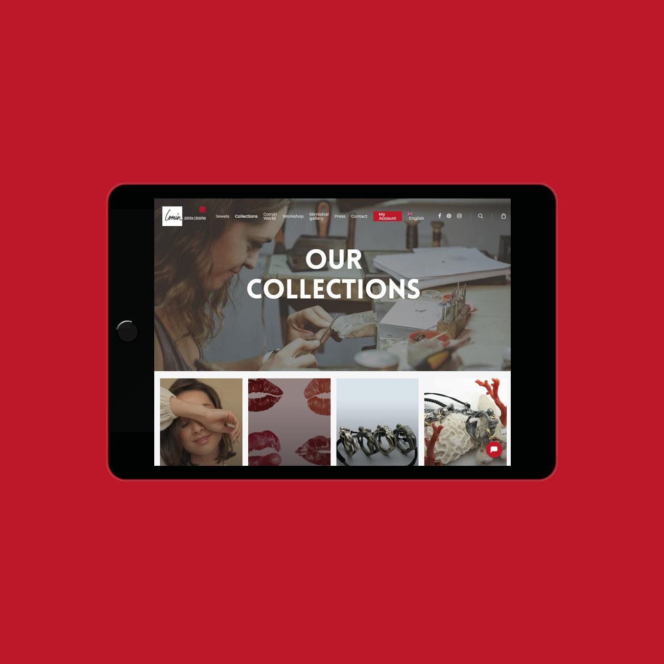 Miko Digital Agence web à Liège - Création site web Comín Joieria Creativa
