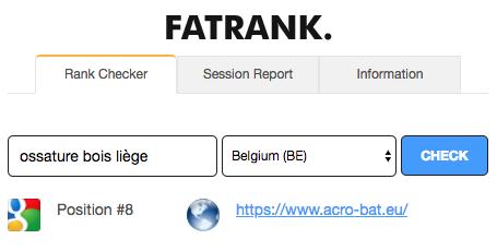 Agence web Liège Rank Acro Bat