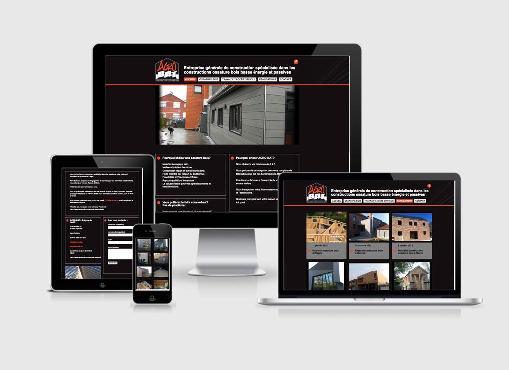 Création site web Liège AcroBat