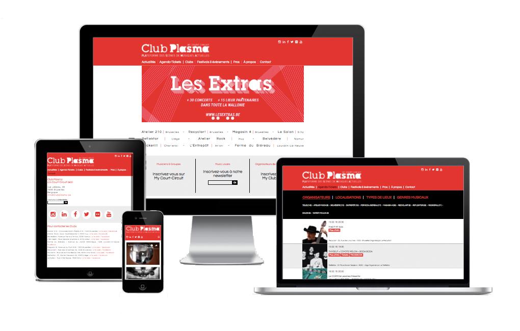 Création Site Web Club Plasma Bruxelles
