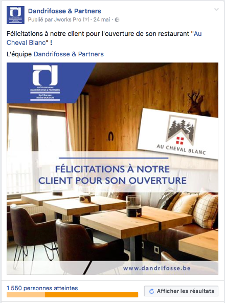 agence web gestion page facebook dandrifosse