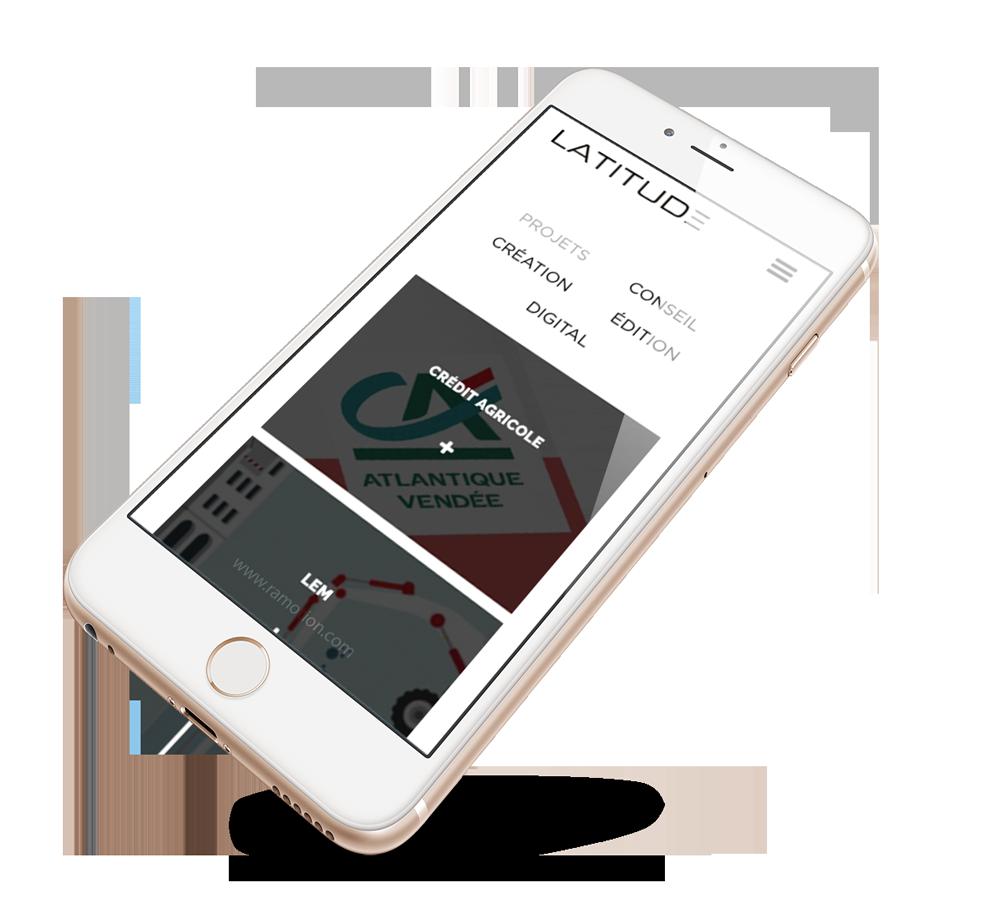 Création site web Liège mobile Latitude
