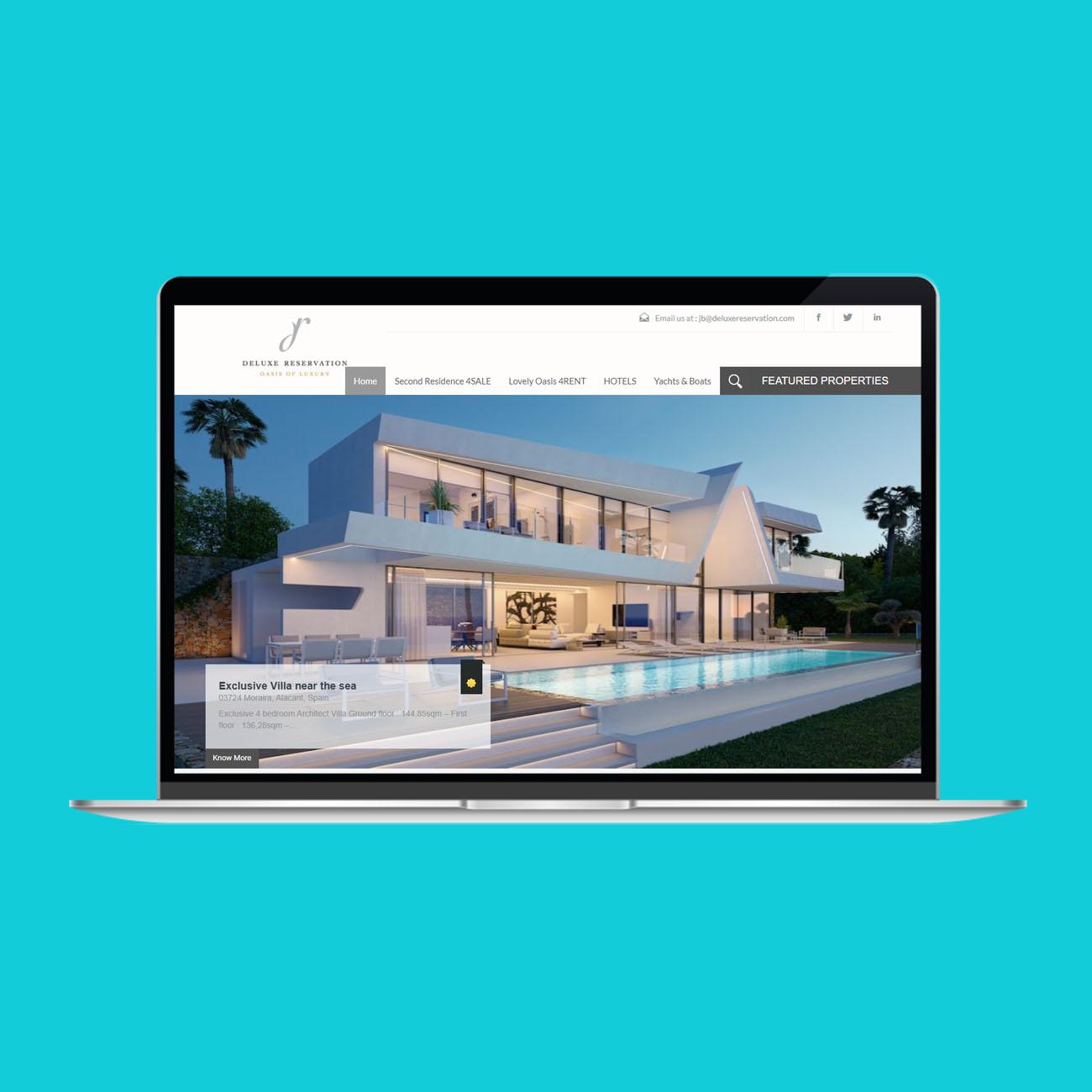 Miko Digital Agence web à Liège - Maintenance site web Deluxe Reservation