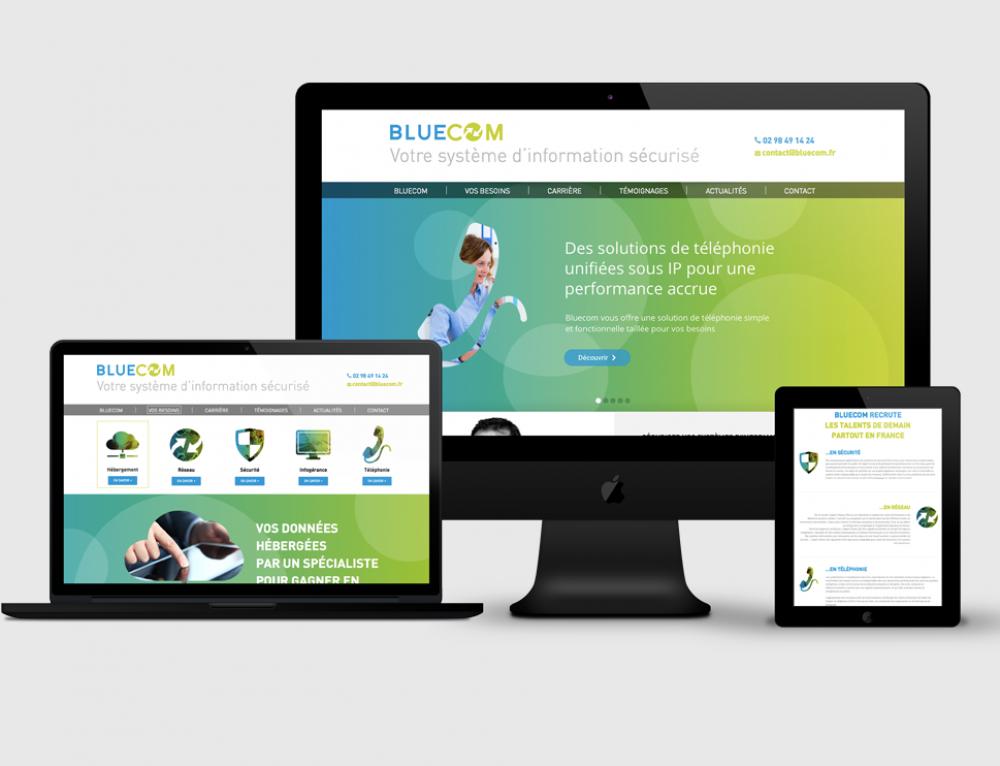 Création site web Bluecom