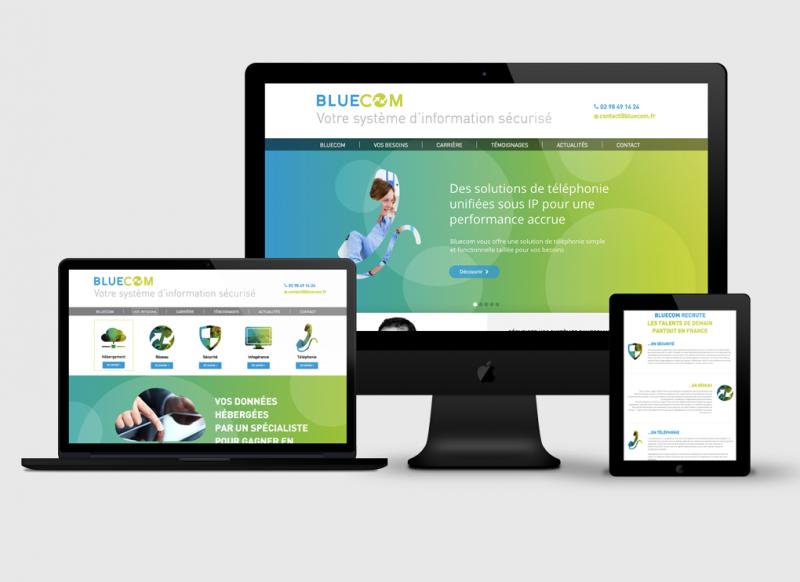 Création site web accueil Bluecom