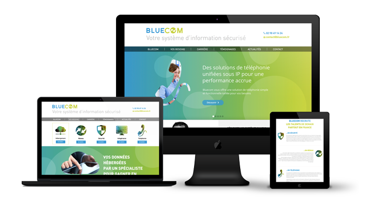 Création site web Bluecom Liège
