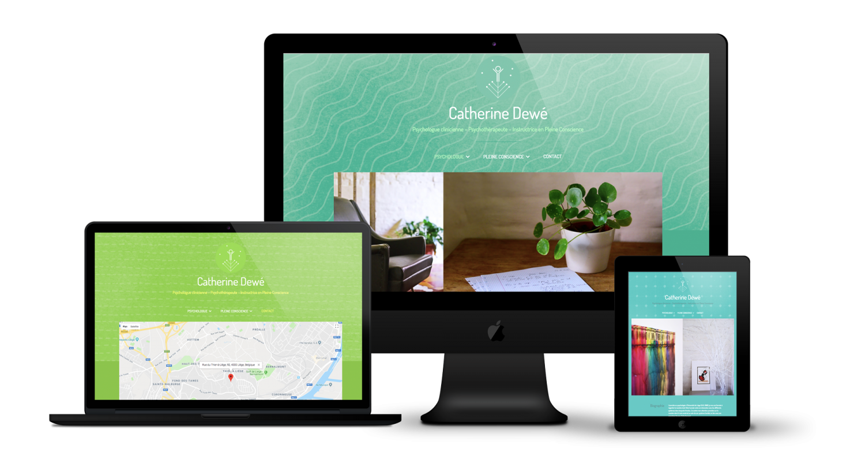 Création site web accueil Psychologue Dewe