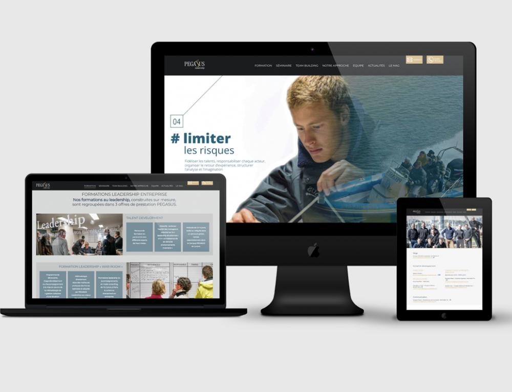 Création site web Pegasus Leadership