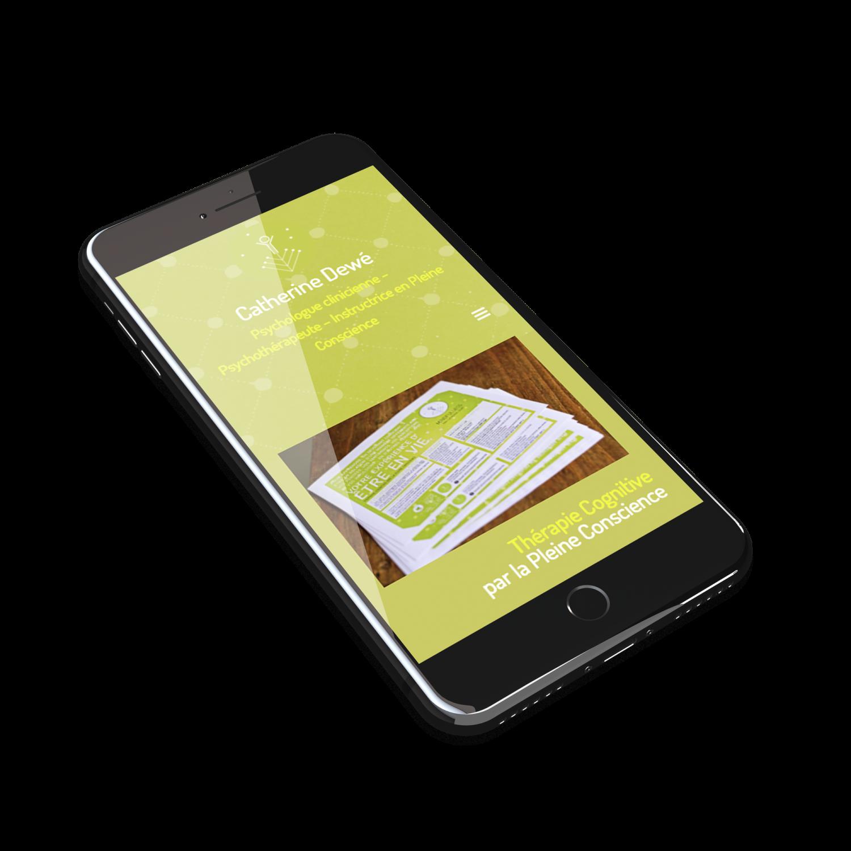 Création site web mobile Psychologue Dewe