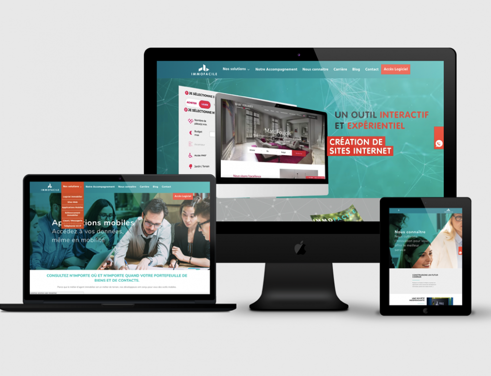 Création site web ImmoFacile