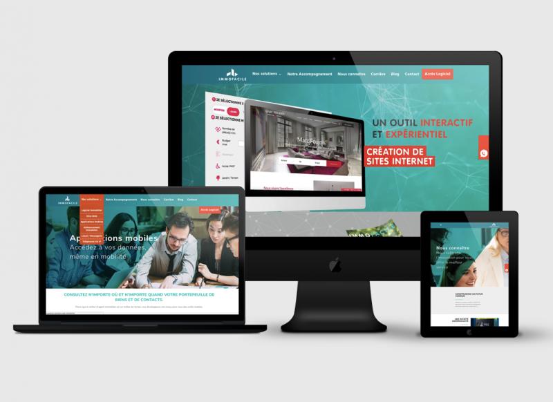Création site web Accueil ImmoFacile