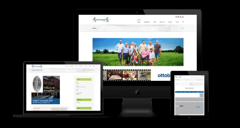 Création site web Amptraide Liège